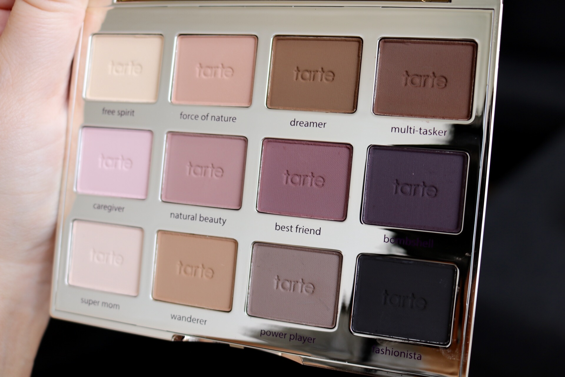 Tarte Tartelette amazonian clay matte palette test recension amandahans skönhetsblogg