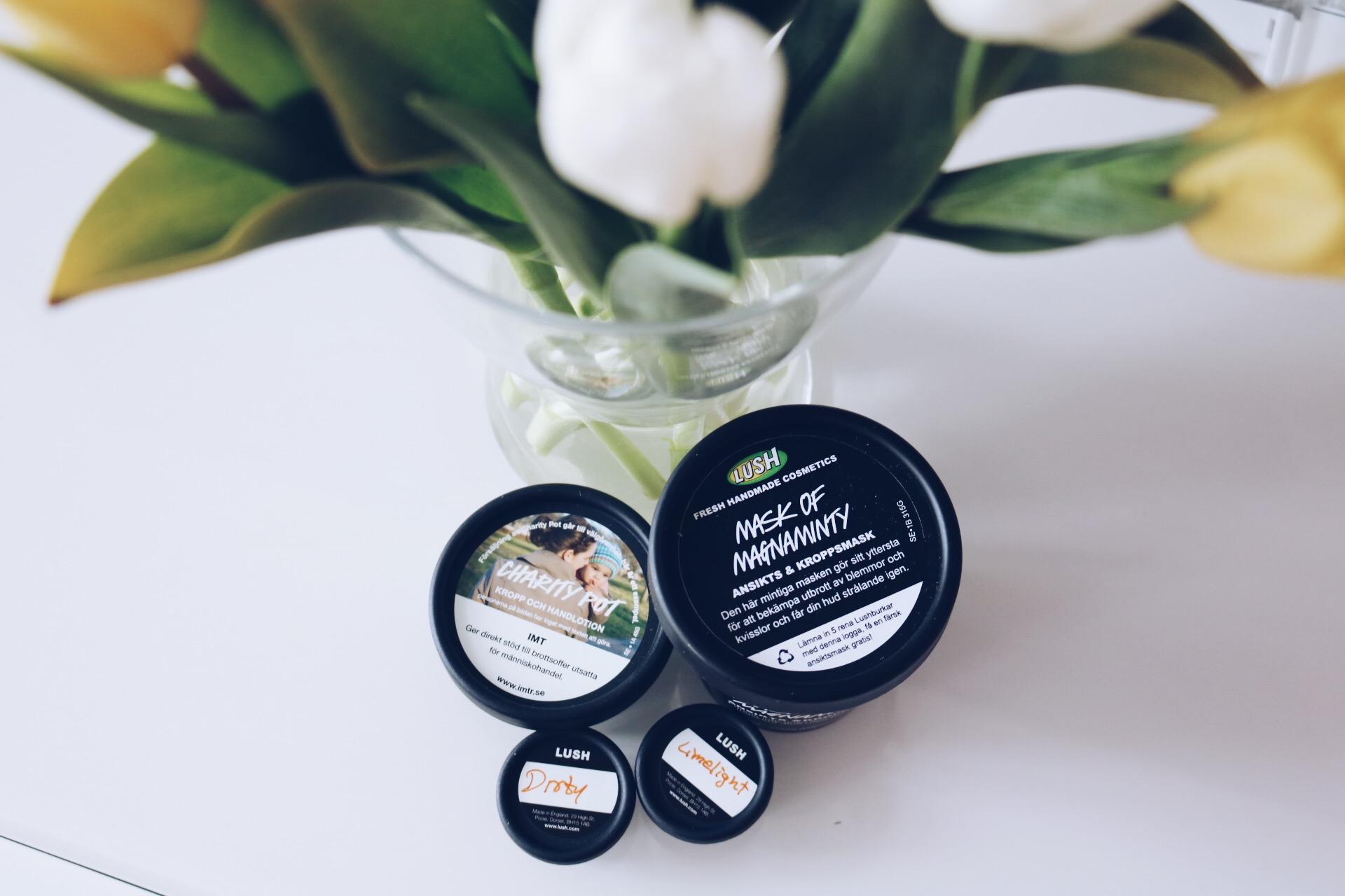 Lush Magnaminty Mask test produkter hudvård tandkrämstabletter, Återblick 2016
