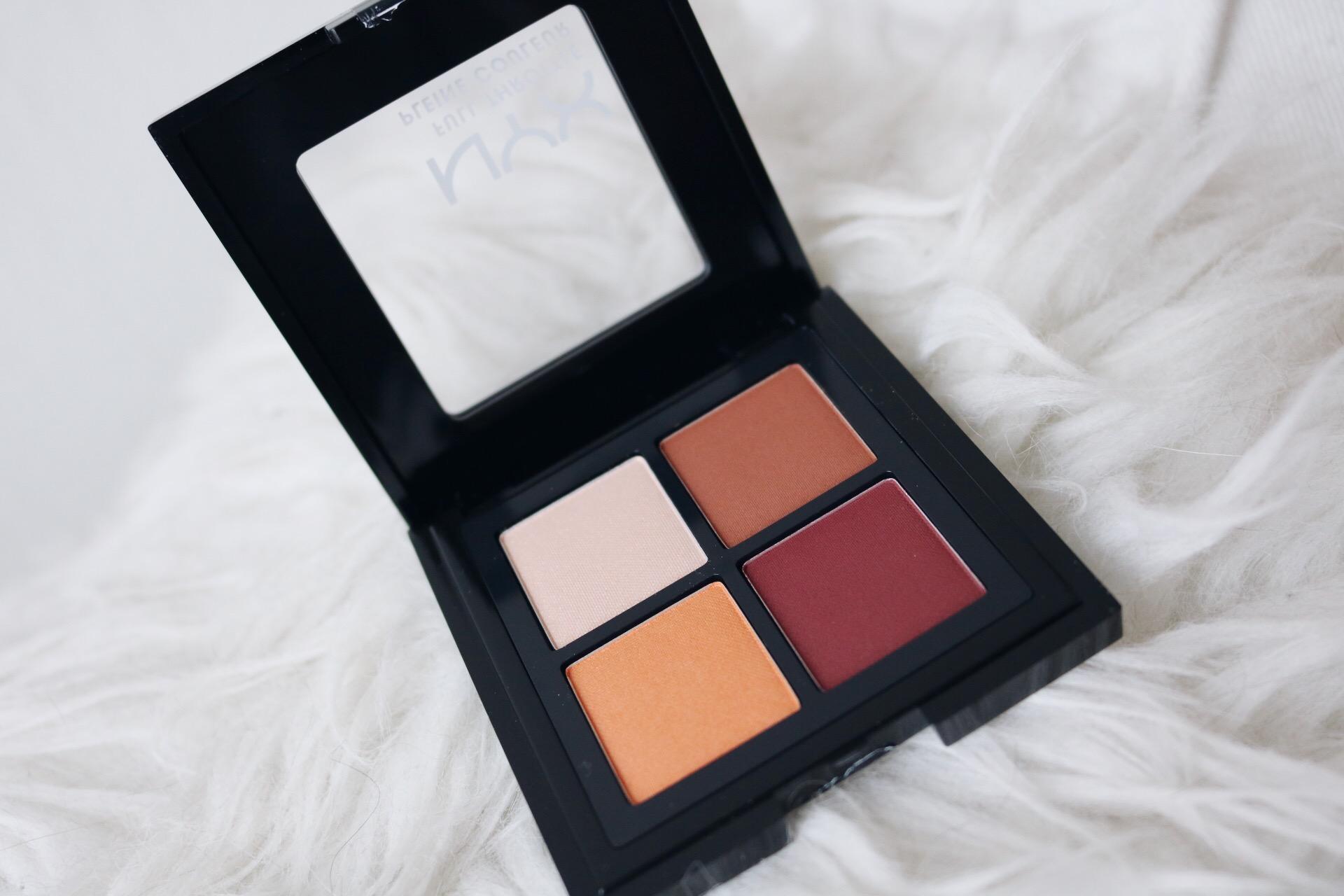 NYX full throttle ögonskuggor color riot färger amandahans skönhetsblogg