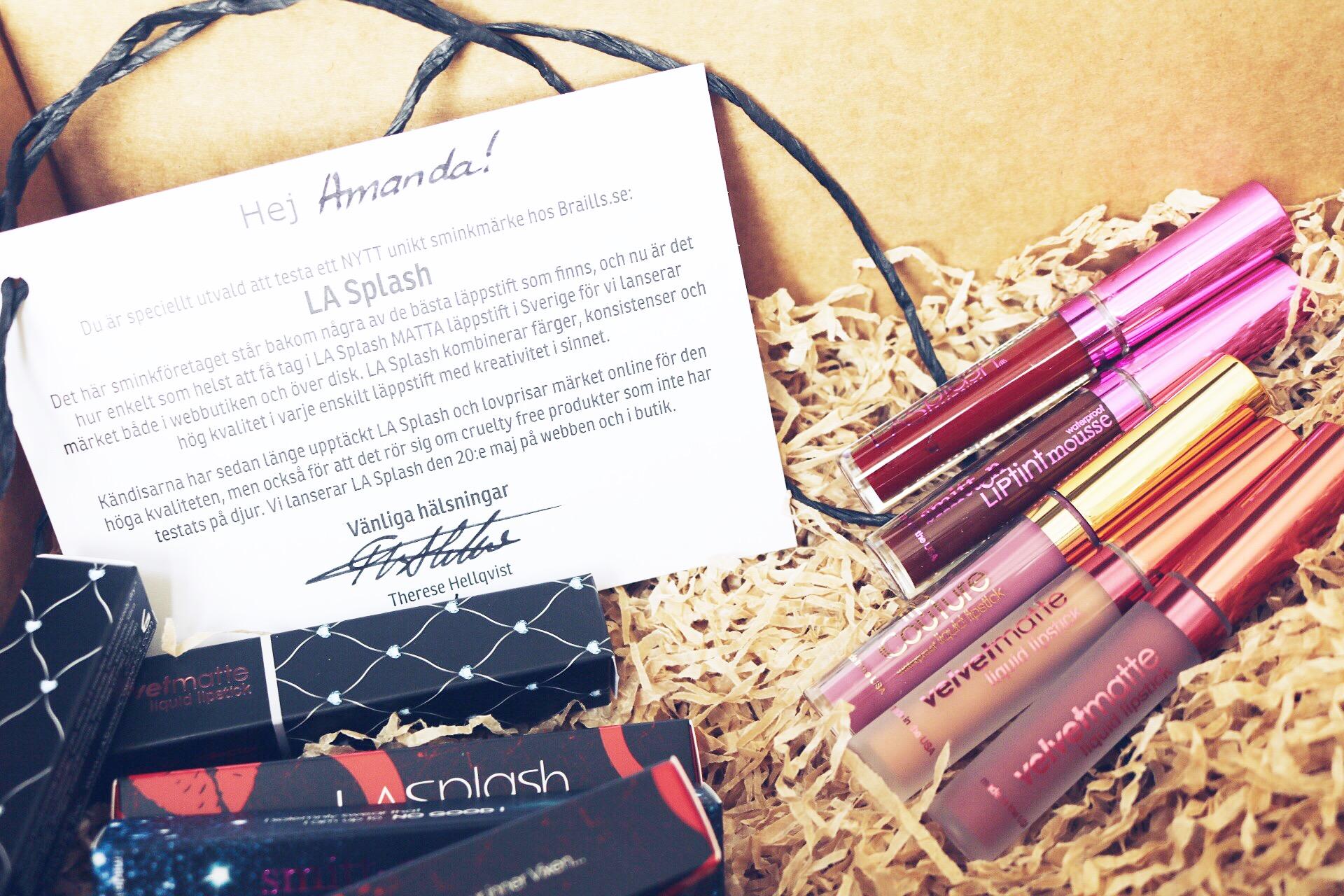 LA Splash flytande läppstift pressutskick amandahans skönhetsblogg matta läppstift kylie jenner