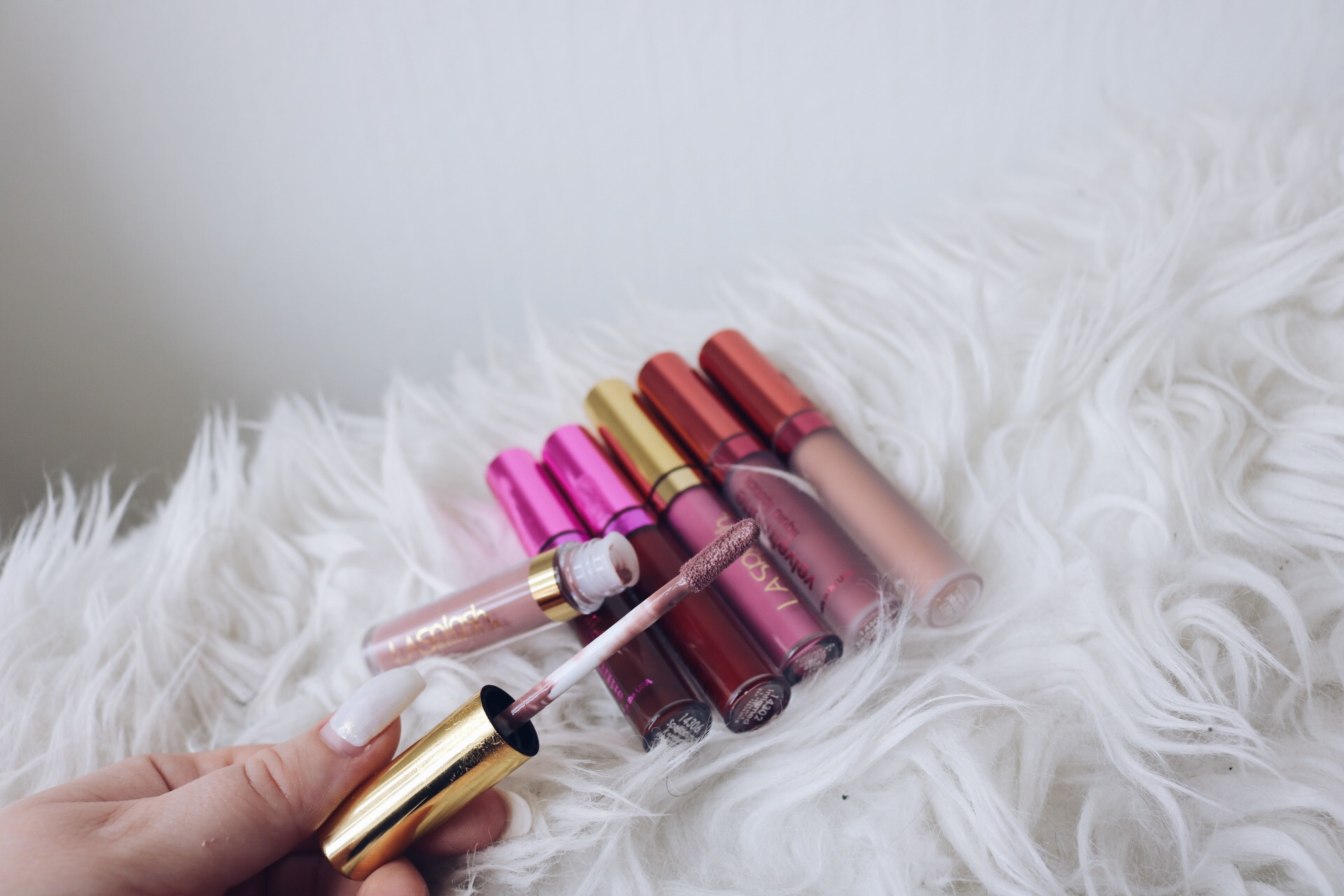 LA Splash flytande läppstift pressutskick amandahans skönhetsblogg matta läppstift kylie jenner swatches