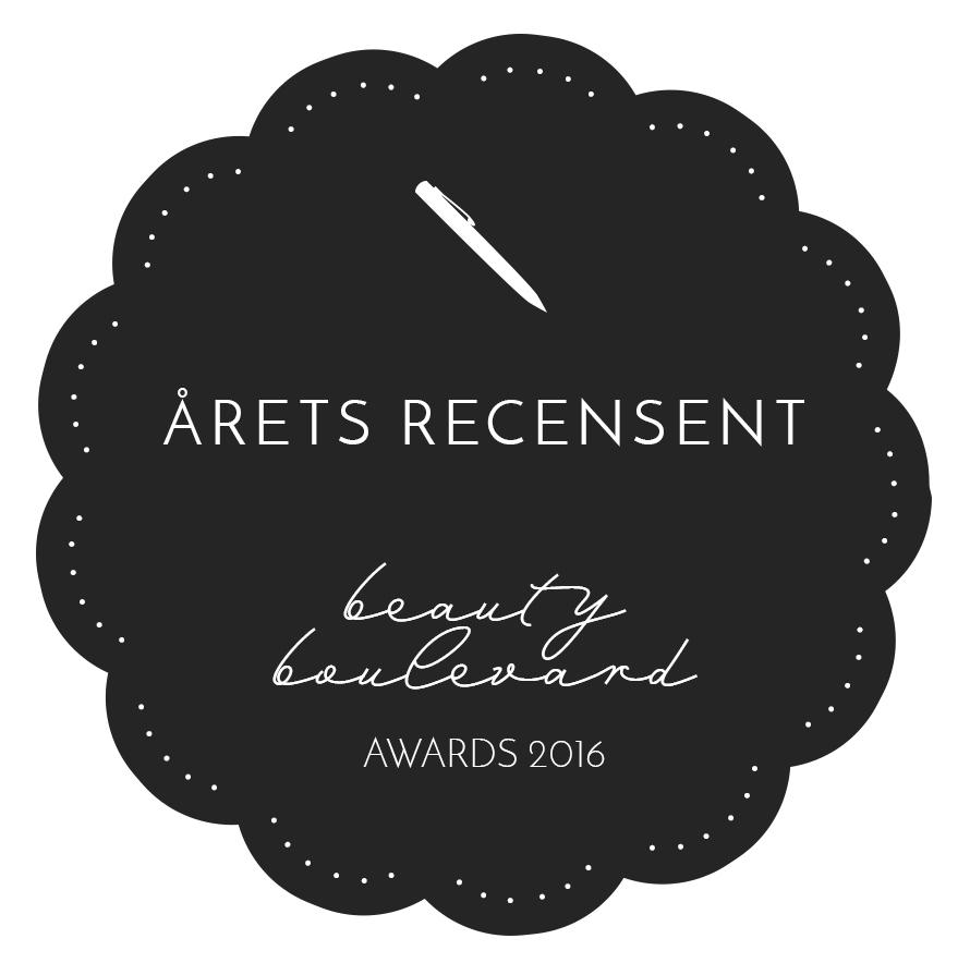 Jag vann årets bästa recensent! amandahans beauty boulevard awards årets bästa recensent, vinnare årets bästa recensent, skönhetsblogg, amandahans, landskrona