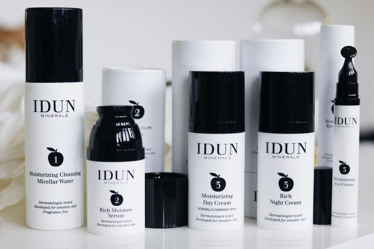 Idun lanserar hudvård, Hudvård, Hudvård känslig hy, parfymfri, vegan, vegansk, idun Minerals, amandahans, skönhetsblogg, serum, dagkräm