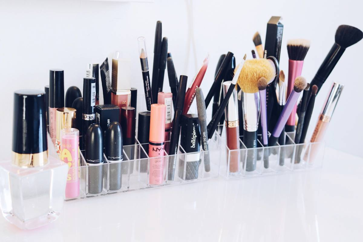 Sminkförvaring akryl organizer makeup organizer