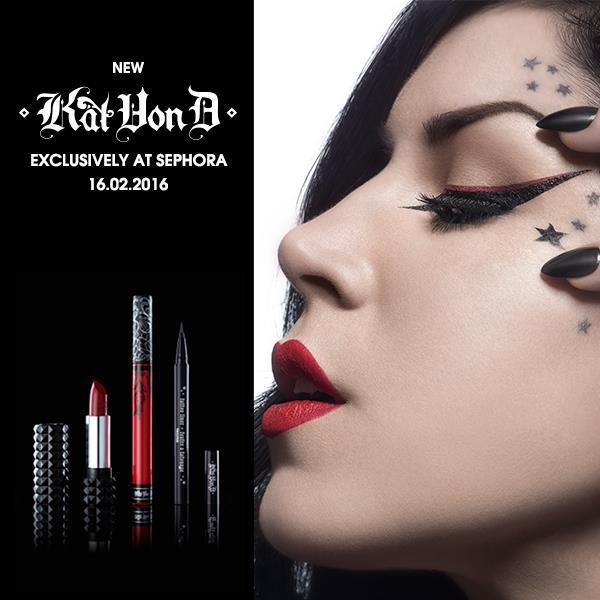 Kat von D lanseras i Sverige Sephora Kat von D sverige skönhetsblogg amandahans