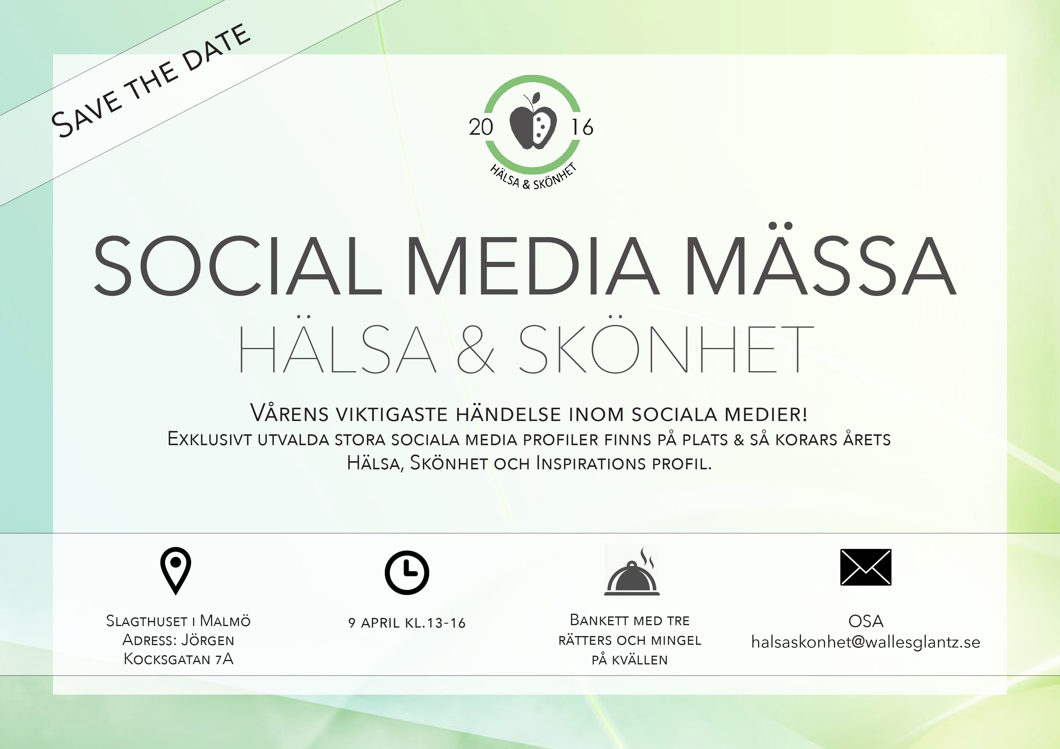 Vinn biljett till årets största Social Media Mässa amandahans skönhetsblogg Social U