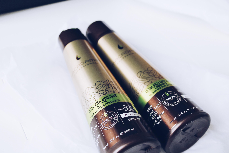Macadamia professional hårvård torrt hår Lyko amandahans skönhetsblogg hårinpackning för torrt hår test
