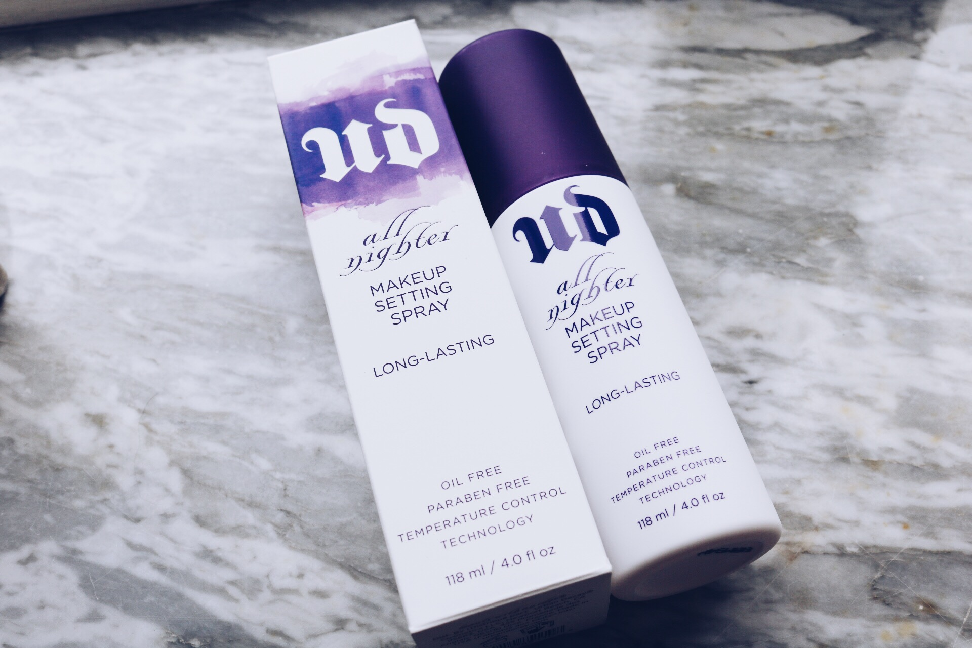 Urban Decay all nighter makeup setting spray test skönhetsblogg amandahans
