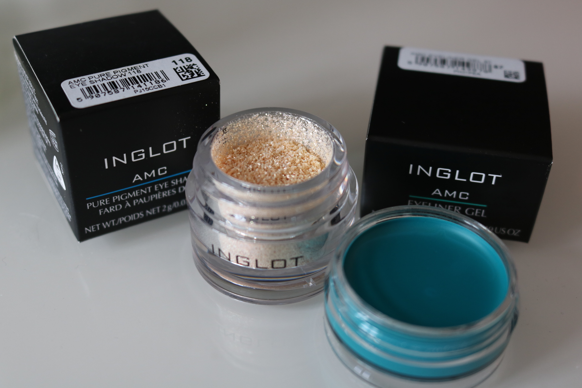 Inglot vattenfast AMC eyeliner nummer 87 test skönhetsblogg amandahans