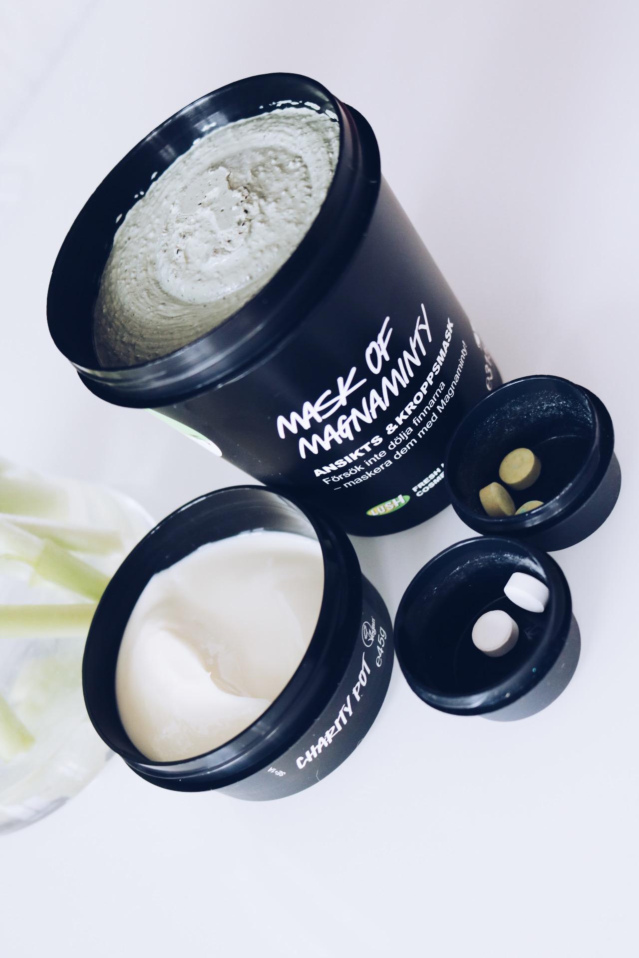 Lush Magnaminty Mask hudvård tandkrämstabletter charity pot test skönhetsblogg