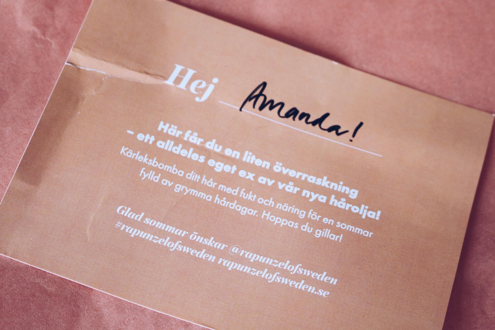Rapunzel of Sweden jojoba hårolja skönhetsblogg amandahans pressutskick