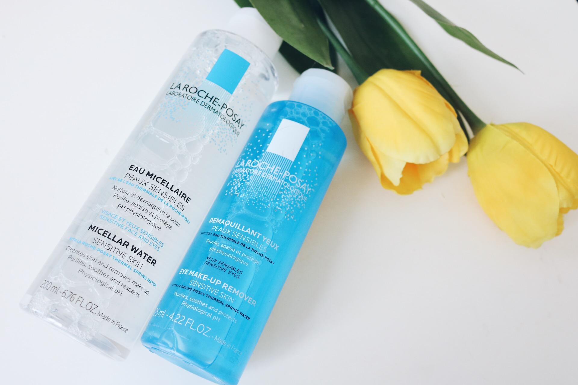 Micellar water och sminkborttagning  amandahans skönhetsblogg skönhetsbloggare ögonsminkborttagning kombinerad känslig fet hy bra pris