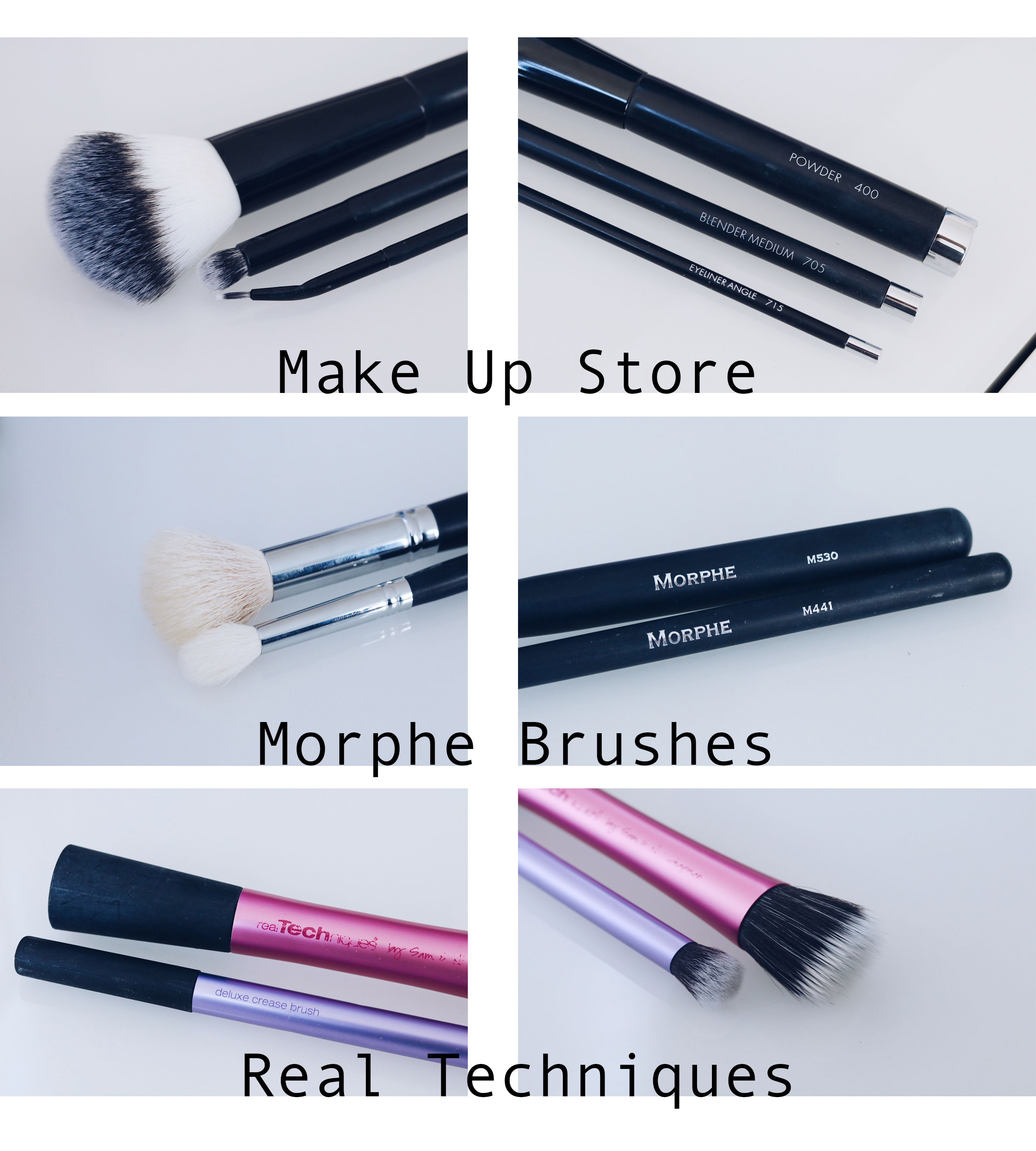 Mina absoluta favoriter bland sminkborstar MUS Make up store Morphe Real Techniques djurtester cruelty free CF amandahans skönhetsblogg skönhetsbloggare