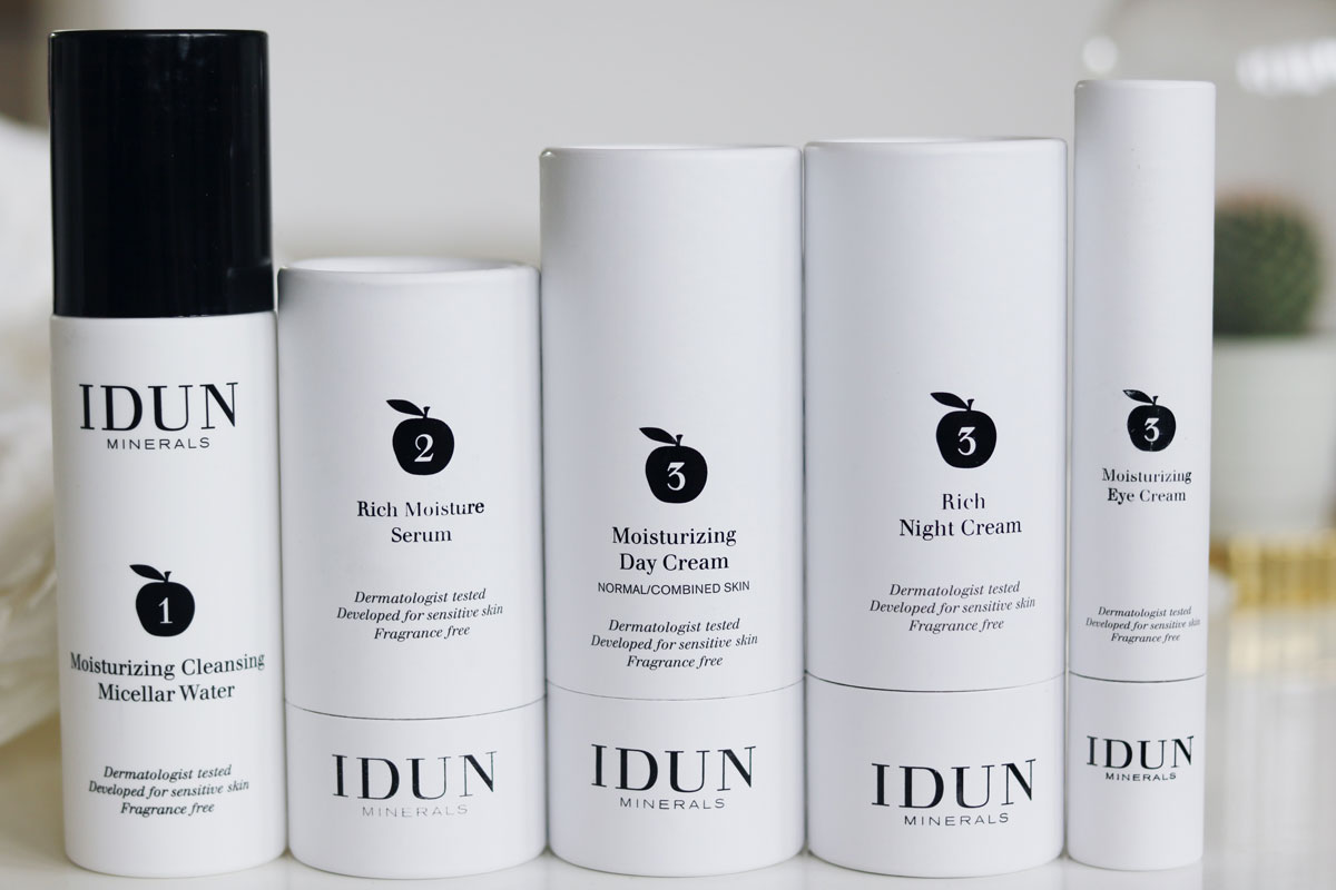 Idun lanserar hudvård, Hudvård, Hudvård känslig hy, parfymfri, vegan, vegansk, idun Minerals, amandahans, skönhetsblogg