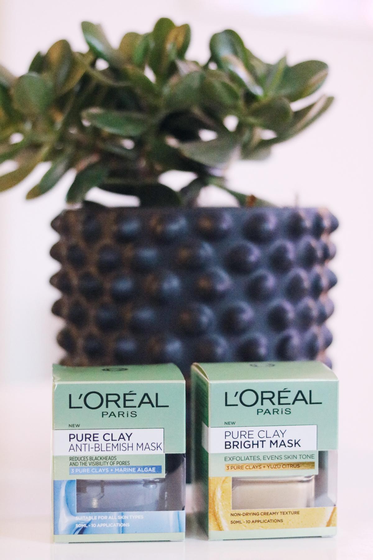 Lermask, L´Oréal Pure Clay, ansiktsmask, ansiktsmasker, lermasker, jämnare hud, mindre porer, rengörande mask, pressutskick, skönhetsblogg, amandahans
