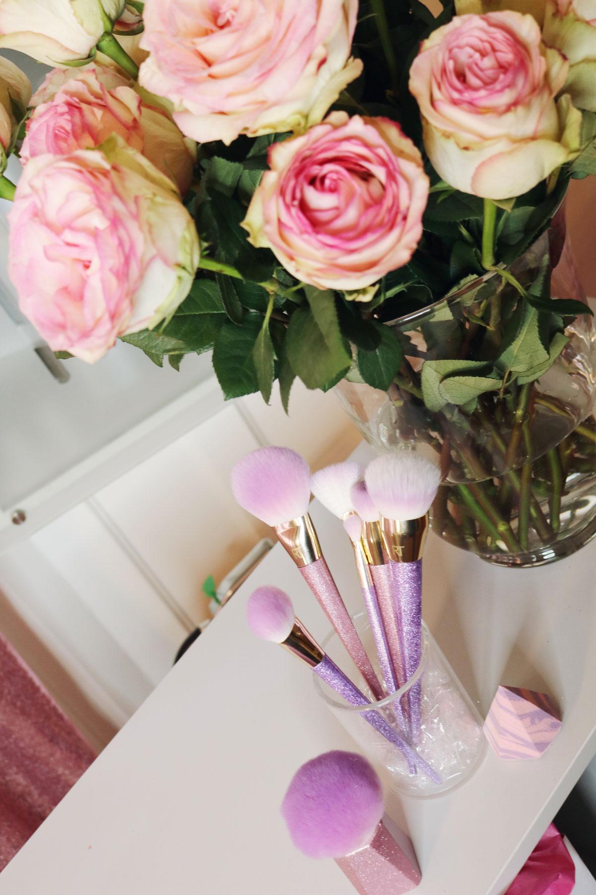 Daisy Beauty Expo, Dbexpo, Daisy Beauty, Real Techniques, RT, nya sminkborstar, rosa glitter