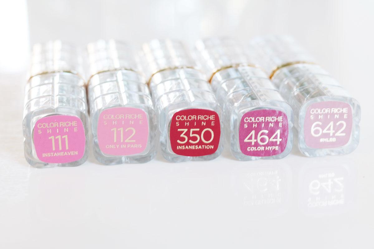 Loreal, Loreal Color Riche Shine läppstift, läppstift, glansiga läppstift, L´Oréal Color Riche, perfekta läppstift, rosa läppstift