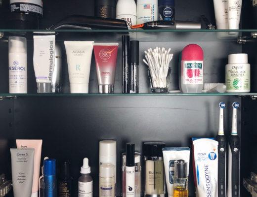 Badrumsskåp, amandahans, skönhetsblogg, produkter, hudvård, organiserat badrumsskåp